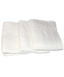 MK Handicraft Cotton Sheets Pack Of 3 - White