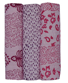 MK Handicraft Printed Cotton Kantha Sheets Pink - Pack Of 3