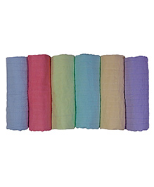 MK Handicraft Cotton Kantha Sheets Multicolor - Pack Of 6