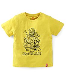 Oye Half Sleeves T-Shirt - Yellow