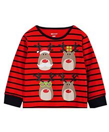 Cherubbaby Reindeer Print Tee - Red