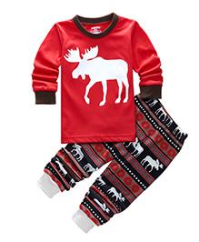 Cherubbaby Reindeer Print Set - Red