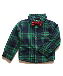Cherubbaby Checkered Shirt - Green