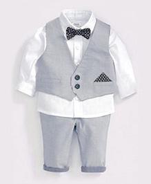 Cherubbaby Formal Set - Grey & White