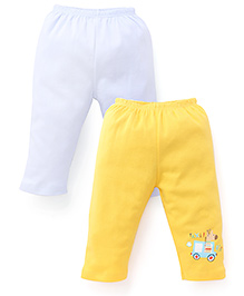 Tango Full Length Leggings Pack of 2 - Yellow White