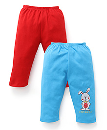 Tango Full Length Leggings Pack of 2 - Red Sky Blue