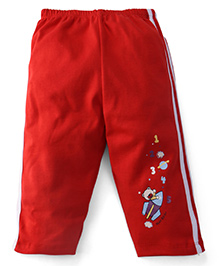 Tango Full Length Track Pant Number Print - Red