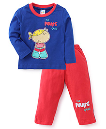 Tango Full Sleeves T-Shirt And Leggings The Pirate Gang Print - Royal Blue