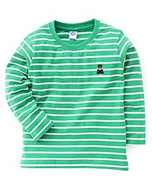 Teddy Full Sleeves Stripe T-Shirt - Green