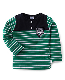 Simply Full Sleeves Striped T-Shirt - Green