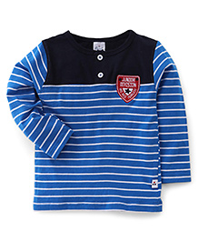 Simply Full Sleeves Striped T-Shirt - Blue