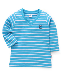 Teddy Full Sleeves Stripes T-Shirt - Blue