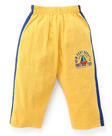 Olio Kids Track Pant Boat Print - Yellow