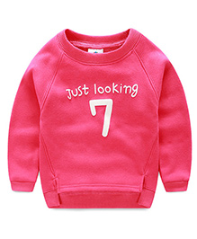 Pre Order - Mauve Collection Just Looking 7 Print Sweatshirt - Pink