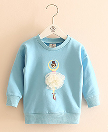 Pre Order - Mauve Collection Cute Dancing Doll Winter Sweatshirt - Blue