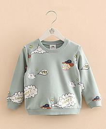 Pre Order - Mauve Collection Pretty Print Sweatshirt - Grey