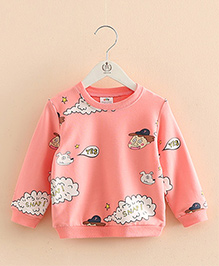 Pre Order - Mauve Collection Pretty Print Sweatshirt - Pink