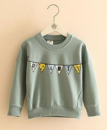 Pre Order - Mauve Collection Party Print Winter Sweatshirt - Grey