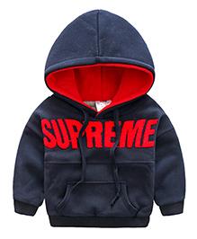 Pre Order - Mauve Collection Supreme Applique Hoodie - Blue