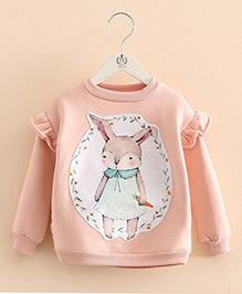 Pre Order - Mauve Collection Rabbit Print Sweatshirt - Peach