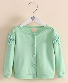 Pre Order - Mauve Collection Front Open Cardigan - Green