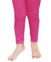 D'chica Polka Dot Leggings For Girls - Pink