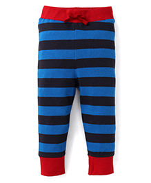 Pinehill Striped Track Pants With Drawstring - Red & Blue