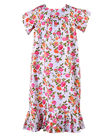 Bownbee Love Spring Nighty Gown - White & Orange