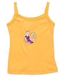 Bodycare Singlet Slip Barbie Print - Yellow