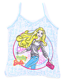 Bodycare Singlet Slip Barbie Print - Blue