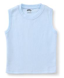 Little Darlings Sleeveless Thermal Inner Wear Vest - Light Sky Blue