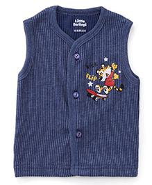 Little Darlings Sleeveless Thermal Vest - Blue