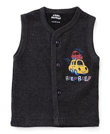 Little Darlings Sleeveless Thermal Vest - Black