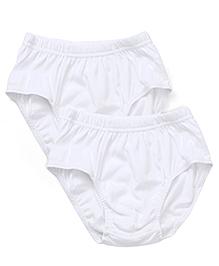 Bodycare Plain Briefs Pack Of 2 - White