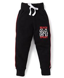 Smarty Track Pants 24 Print - Black