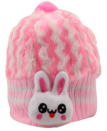 Tiekart Cute Rabbit Print Cap - Pink