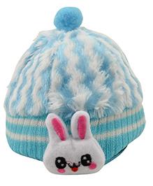 Tiekart Cute Rabbit Print Cap - Blue