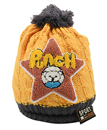 Tiekart Punch Start Design Cap - Yellow