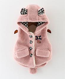 Awabox Rabbit Pattern Vest - Pink