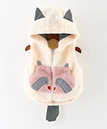 Awabox Cat Pattern Vest - Beige