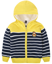Awabox Thick Striped Kid's Sweater - Yellow