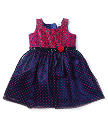 Doodle Sleeveless Frock Lace & Sequin Bodice - Navy Blue