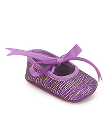 Barbie Booties Ribbon Tie Up - Purple