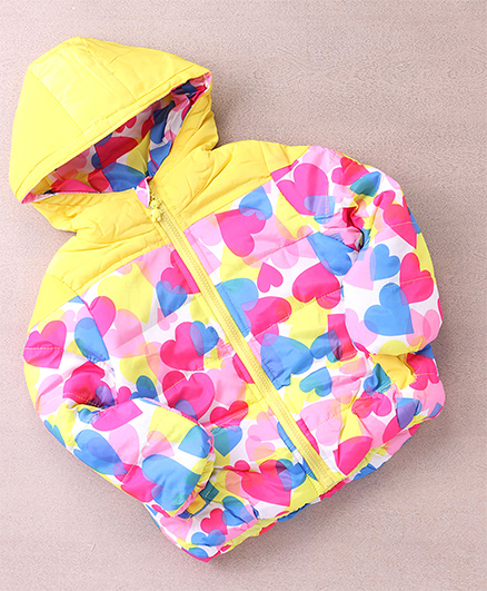 Superfie Camouflage Winter Hooded Jacket - Yellow