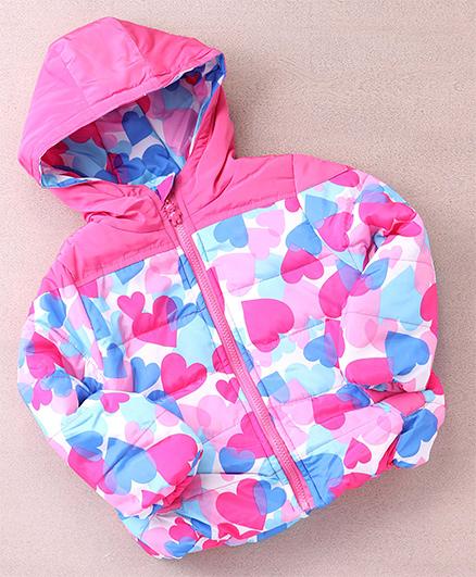 Superfie Camouflage Winter Hooded Jacket - Pink