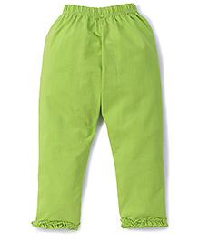 Simply Capri Ruffle Hem - Green