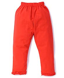 Simply Capri Ruffle Hem - Red
