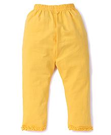 Simply Capri Ruffle Hem - Yellow