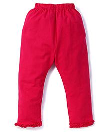 Simply Capri Ruffle Hem - Pink