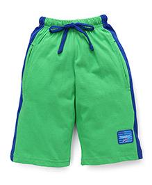 Taeko Three Fourth Bermuda Pants - Green Royal Blue
